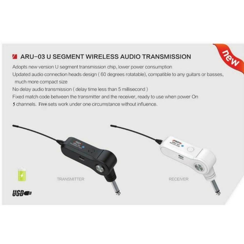 ซื้อ Aroma ไวเลสสำหรับกีตาร์และเครื่องดนตรีอื่นๆ Wireless Audio Transmission รุ่น Aru 03 ใหม่ล่าสุด