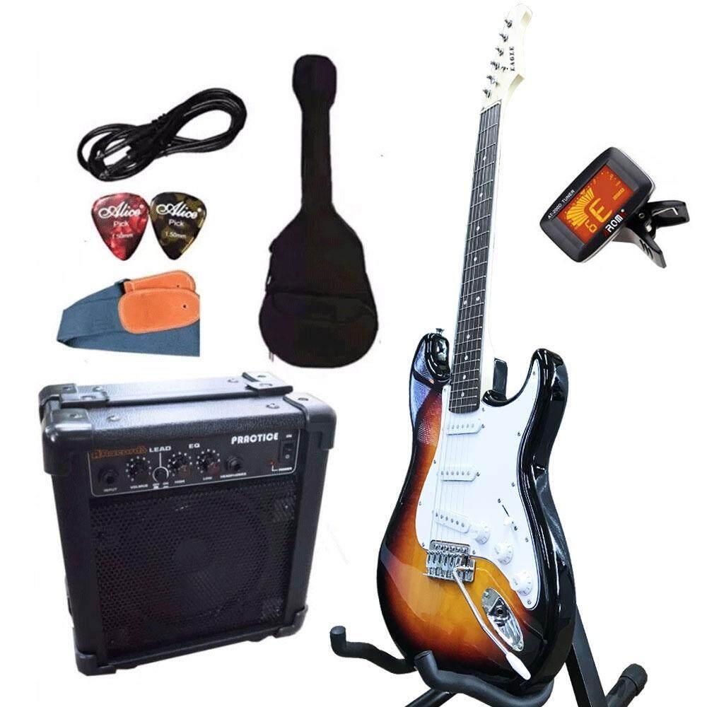 ส่วนลด Eagle กีตาร์ไฟฟ้า Electric Guitar Stratocaster รุ่น E 30Sb และ อุปกรณ์กีตาร์ พร้อมตู้แอมป์ At First ใน นนทบุรี