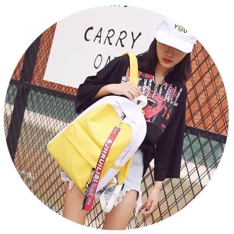 ความคิดเห็น Baobao Shopกระเป๋า กระเป๋าเป้ กระเป๋าสะพายหลัง Backpack No 18075 Red Yellow