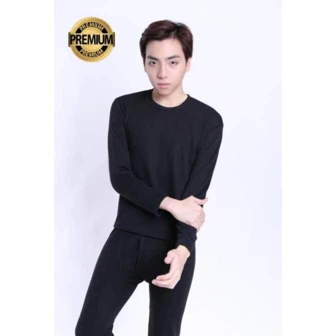 ขาย ซื้อ เสื้อลองจอน กันหนาว Heattech ผู้ชาย สีดำ มี 5 ไซด์ให้เลือกซื้อ M L Xl 2Xl 3Xl