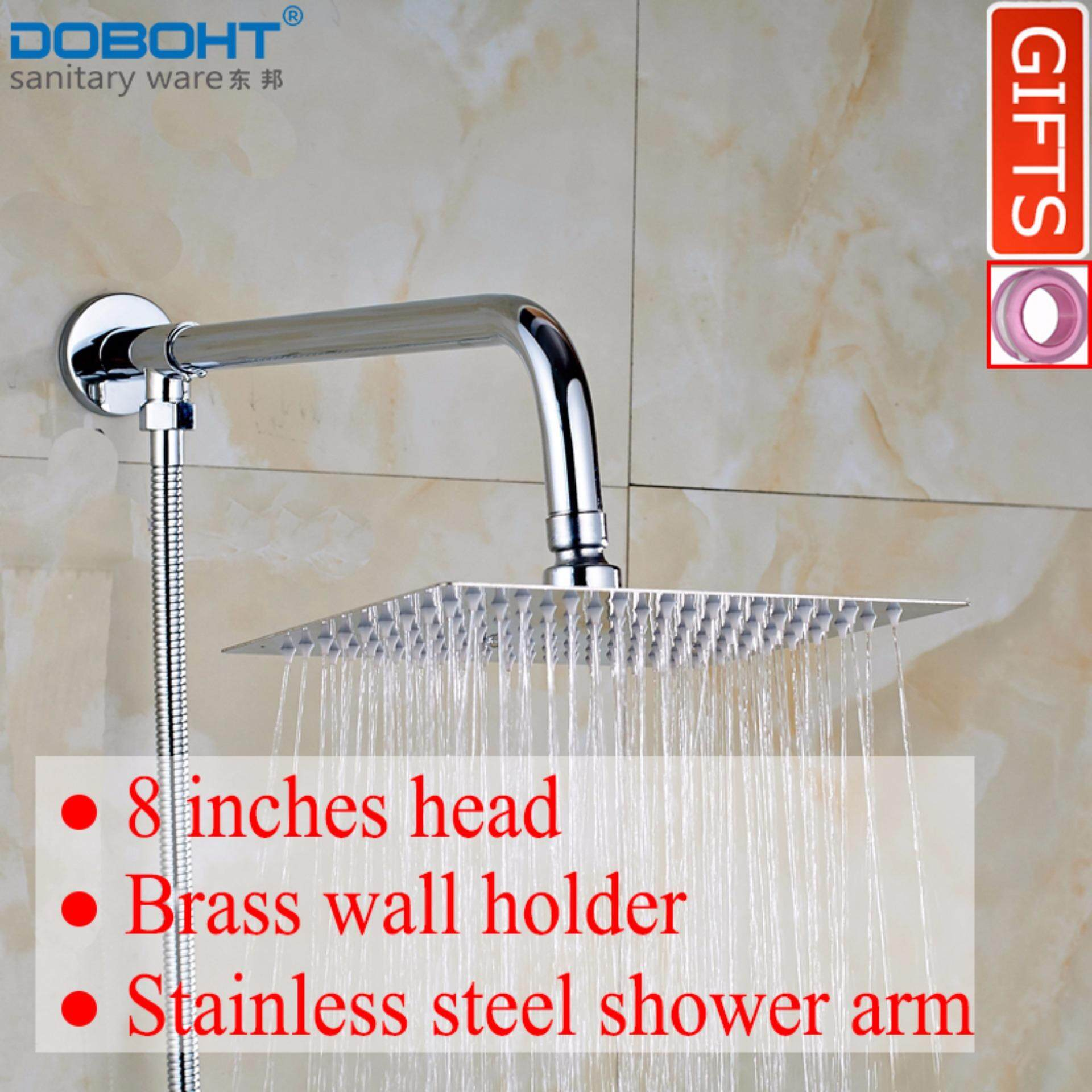 โปรโมชั่น Doboht Bathroom Home Shower Set With 8 Inch Stainless Steel Shower Head And Shower Arms And 1 5M Hose Chrome Intl Doboht