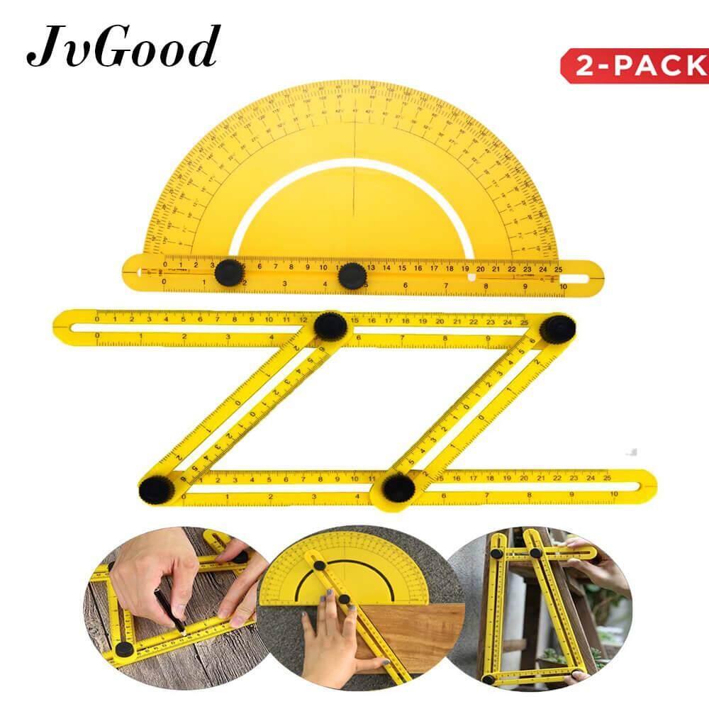 ส่วนลด Jvgood 2 Pcs Measuring Ruler ไม้บรรทัดวัดมุม ไม้บรรทัดปูกระเบื้อง ไม้บรรทัด 4 มุม Multi Angle Ruler Template Tool Measures Four Sides