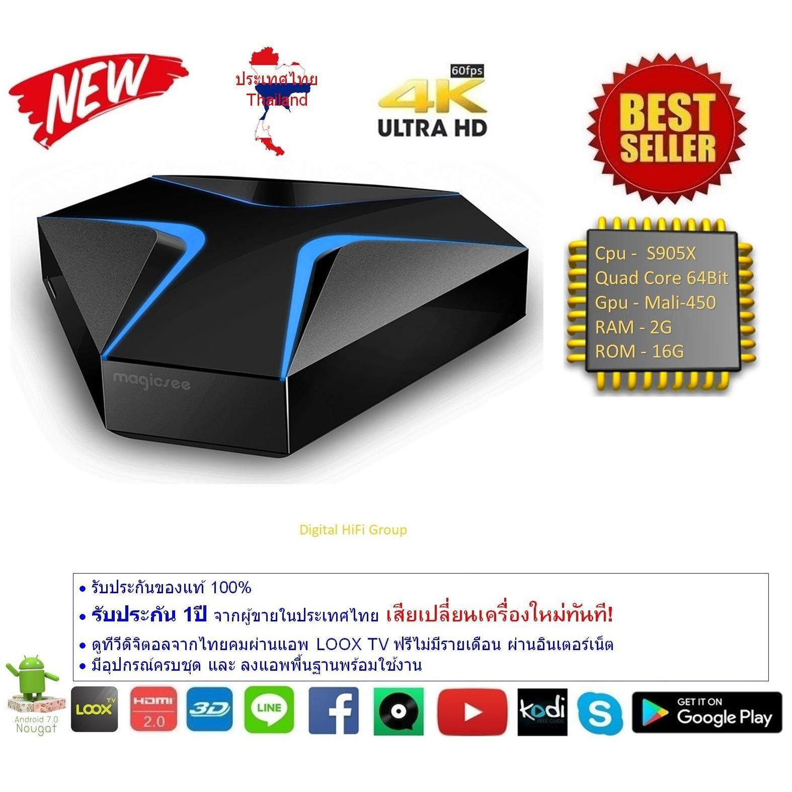 ขาย Android Smart Tv Box Magicsee Iron Cpu S905X Ram 2G Rom 16G Uhd 4K Android Nougat 7 1 2 ออนไลน์