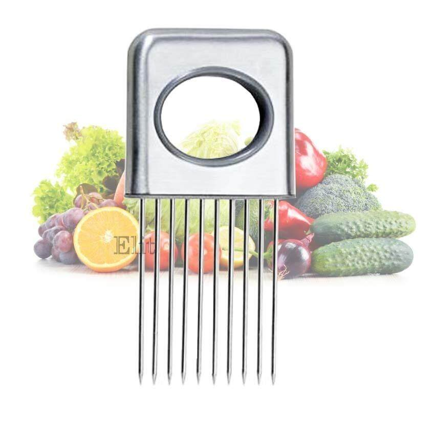ราคา Tml เครื่องหั่นหอม Onion Vegetable Tomato Holder Slicer Cutter Stainless Steel Kitchen Gadget Tools ออนไลน์