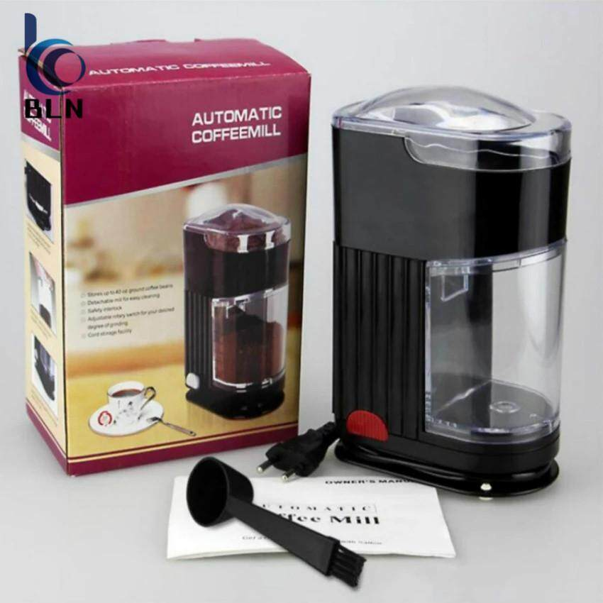 【Bln Home】Home Coffee Grinding Machine Electric Portable Burr Mill Espresso Coffee Bean Grinder Machine Coffee Powder Maker Unbranded Generic ถูก ใน ฮ่องกง