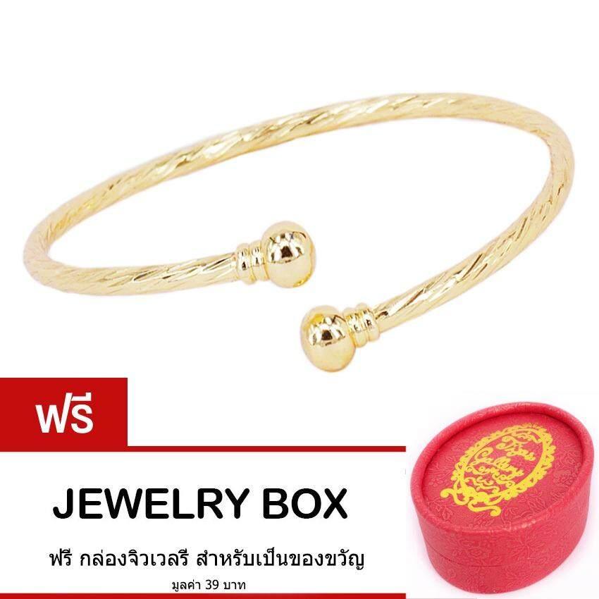 ขาย Tips Gallery กำไล ข้อมือ สแตนเลส 316L ลายเกลียว หุ้ม ทองคำ 24K รุ่น Le Volute Love Rope Golden Bracelet Design Tbs096 ฟรี กล่องจิวเวลรี สมุทรปราการ ถูก