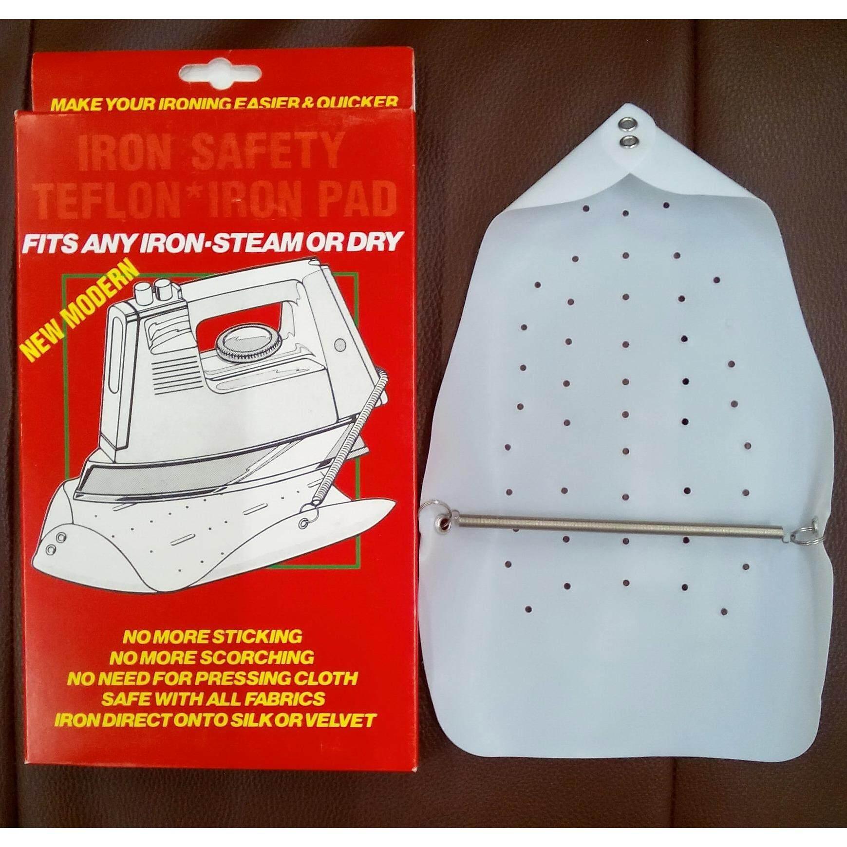 แผ่นรองเตารีด IRON SHOEแผ่นรองรีด IRON SAFETY ทำจาก TEFLON คุณภาพดีจากบริษัท DUPONT เยอรมันนี ช่วยเพิ่มและส่งผ่านความร้อนจากเตารีดลงสู่เนื้อผ้าทำให้รีดผ้าได้เรียบและเร็วขึ้น ไม่เกิดเงาสะท้อน ประหยัดเวลา ถนอมเนื้อผ้า รีดง่าย ป้องกันผ้าไหม้ เหลือง ด่าง
