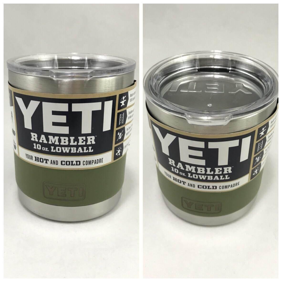 ราคา แก้วYetiเก็บความเย็นความร้อนขนาด10ออนซ์สีพื้นขอบเงิน Yeti Rambler กรุงเทพมหานคร