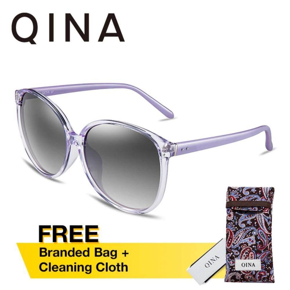 ขาย Qina Polarized สีม่วงแว่นตากันแดด Cat Eye Uv400 400 Protection เลนส์สีเทา Qn3520 ถูก ฮ่องกง