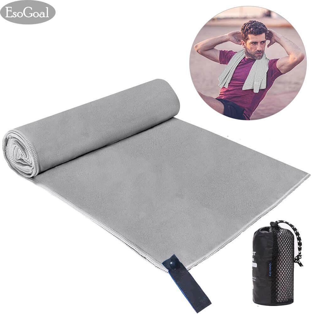 โปรโมชั่น Esogoal Sport Towel Quick Dry Towel Microfiber Towel Travel Towel Super Absorbent Lightweight Ultra Compact Suitable For Swimming Yoga Camping Beach Gym ใน จีน