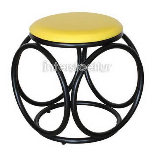 ราคา Inter Steel เก้าอี้เหล็ก เบาะกลมสตูล รุ่น Balloon โครงดำ ใหม่