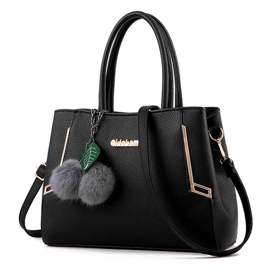 ขาย ซื้อ Maylin กระเป๋าสะพายข้าง กระเป๋าถือ ผู้หญิง กระเป๋าแฟชั่น เกาหลี รุ่น Mb 038 สีดำ