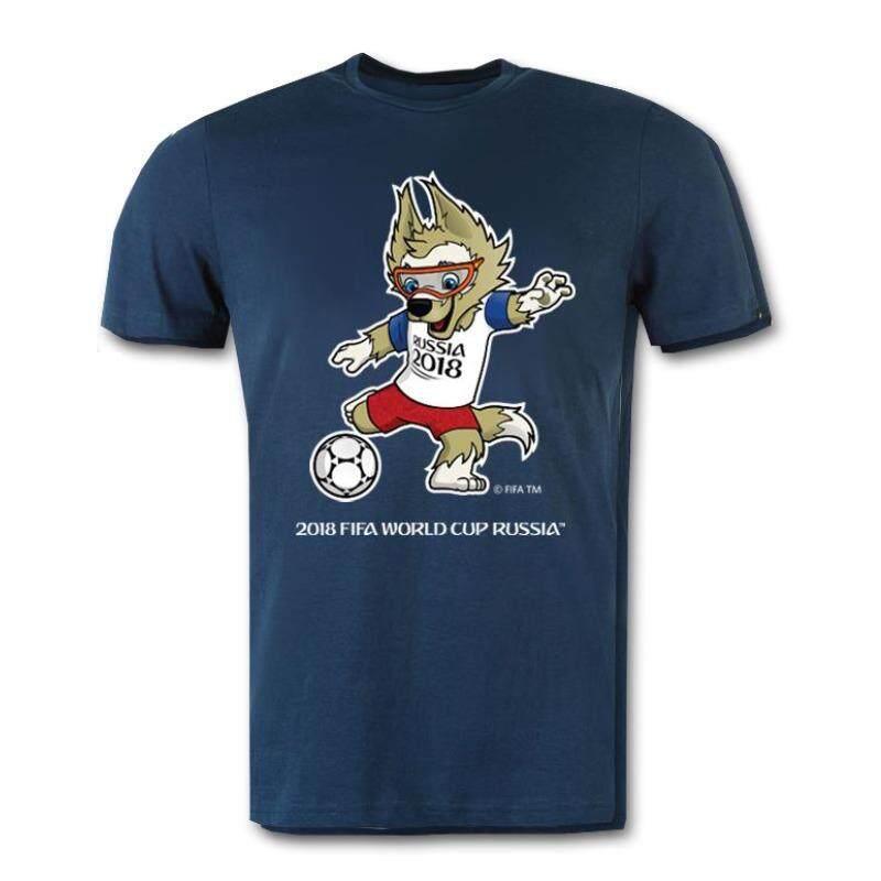 ขาย เสื้อทีเชิ้ตลิขสิทธิ์ฟุตบอลโลก Fifa World Cup Russia 2018 สีกรมท่า ถูก ใน กรุงเทพมหานคร
