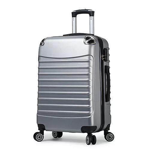 โปรโมชั่น กระเป๋าเดินทาง สีดำ เงิน นิ้ว 8 ล้อคู่ 360 ํ Polycarbonate รุ่น Gtc03 20Inch Black01