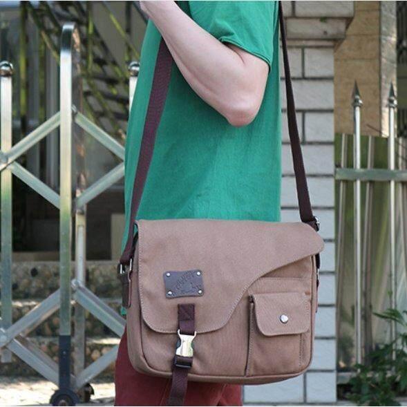 ราคา Osaka กระเป๋าผู้ชายสะพายข้าง ผ้า Canvas รุ่น Nk305 กาแฟ ออนไลน์