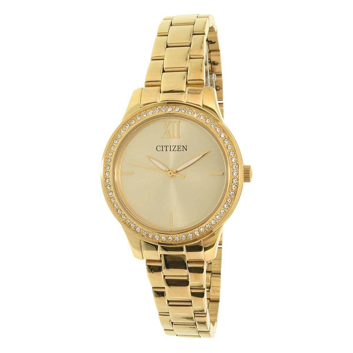 ซื้อ Citizen Watch Quartz Gold Stainless Steel Case Stainless Steel Bracelet Ladies El3088 59P ใน ฮ่องกง