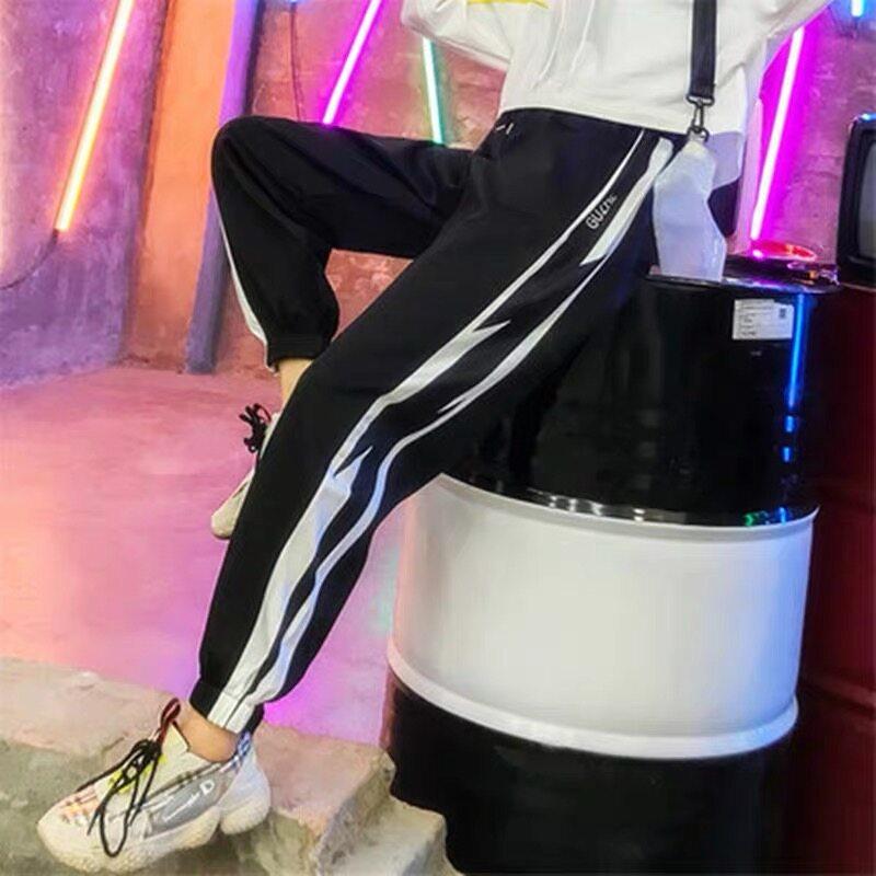 กางเกงขายาวผญ กางเกงผู้หญิง กางเกงกีฬากางเกงขายาว กางเกงวอร์ม กางเกงแฟชั่นกางเกงผู้หญิงทรงเกาหลีขา ไซด์เอวยืดไซด์.