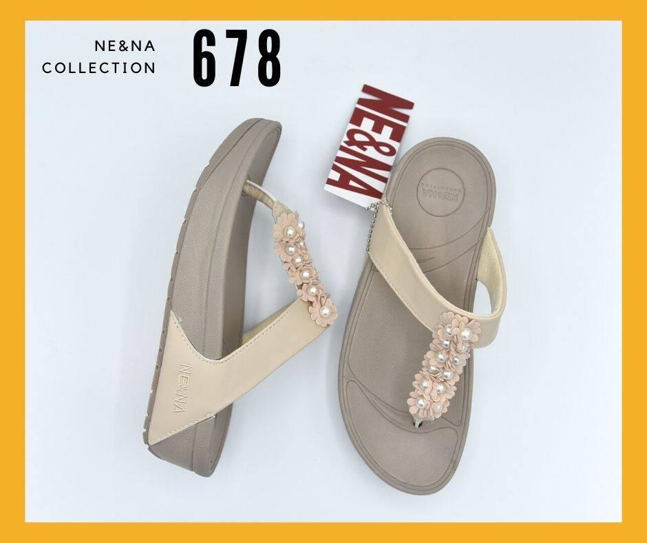 รองเท้าเเฟชั่นผู้หญิงเเบบเเตะ Flip Flop No. 678 NE&NA Collection Shoes