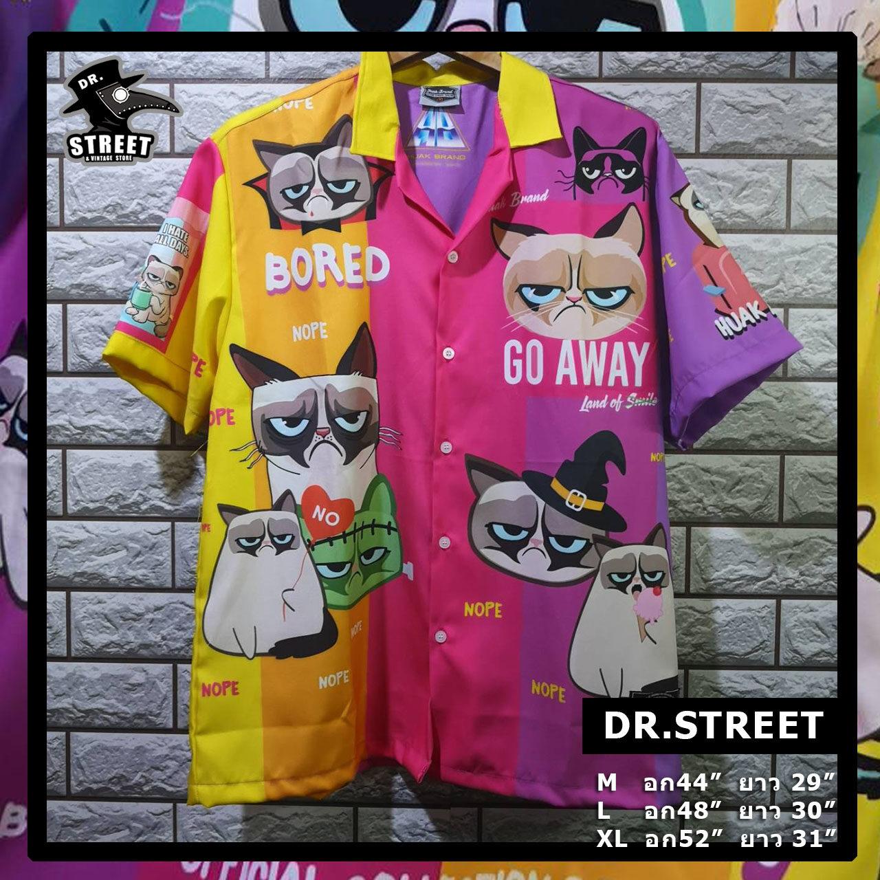 Dr.street เสื้อเชิ๊ต เสื้อคอ-ปก เสื้อแนวสตรีท เสื้อโอเวอไซต์ Huak.