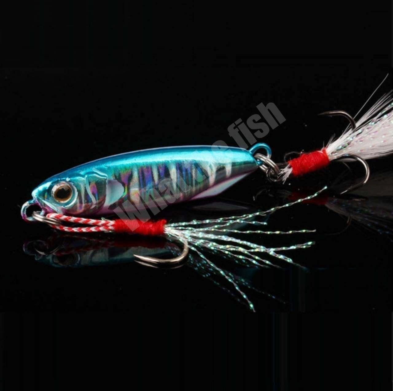 ไมโครจิ๊ก 10กรัม 15กรัม 20กรัม 30กรัม 1ชิ้น เหยื่อไมโครจิ๊ก Micro jig เหยื่อตกปลาทะเล ไมโคจิ๊ก เหยื่อจิ๊ก ตกปลาเก๋า ตกปลากุเลา ไมโคจิก