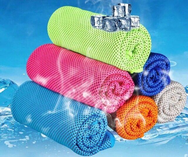 ผ้าขนหนูเย็น เหมาะกับนักกีฬา ซับน้ำได้ดี Magic Ice Cooling Towel 30x90cm..