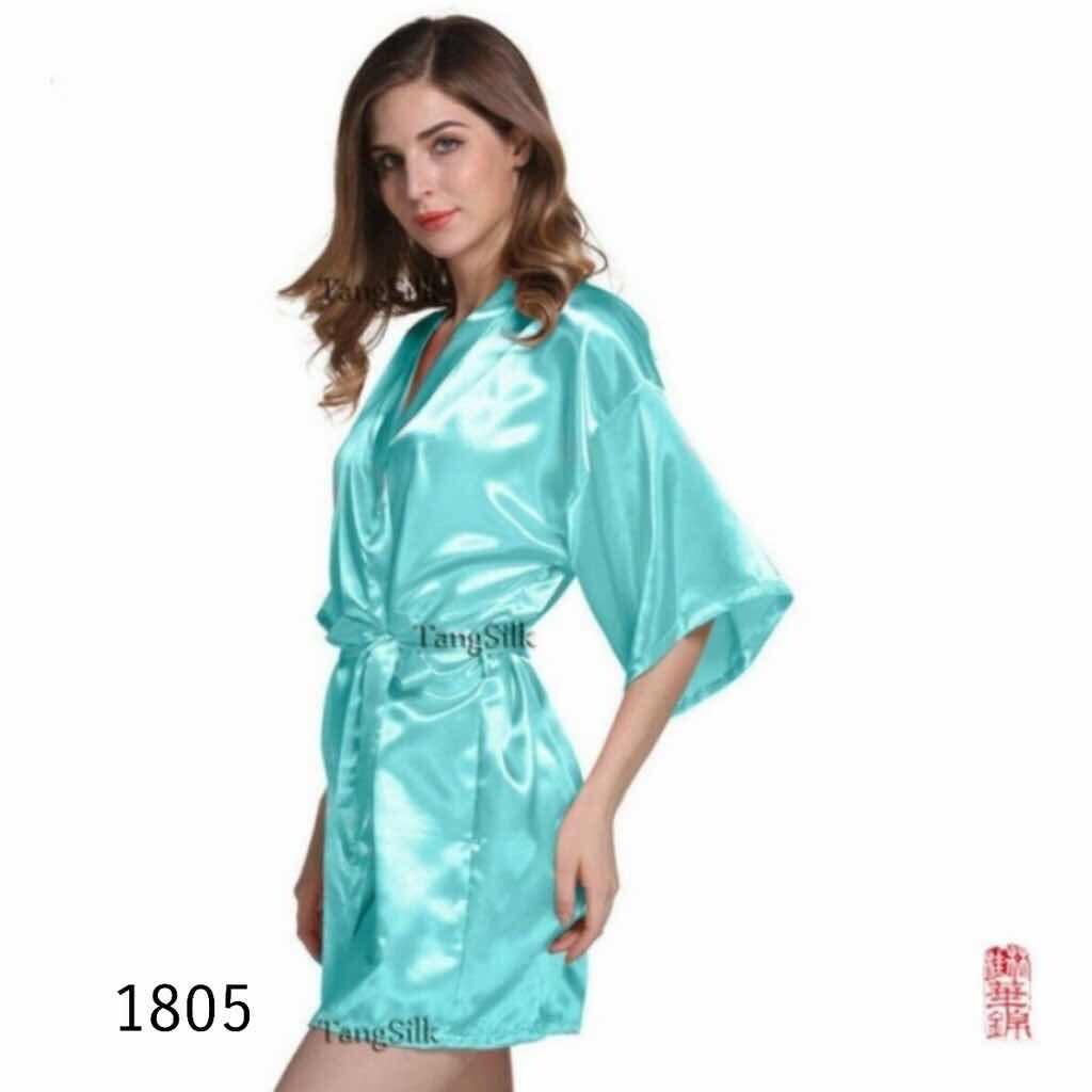 CJ-ชุดคลุมสาวๆ เเขนสั้น ผ้าซาติน งานสวย 10สี ฟรีไซส์ รุ่นCJ-1805