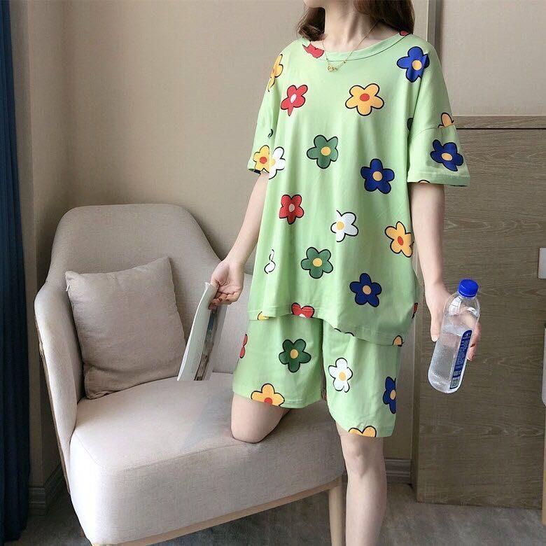 New2020ชุดนอนน่ารักแฟชั่น เซ็ทชุดนอน2ชุด ลวดลายการ์ตูนน่ารัก มีหลายลายให้เลือก ลายน่ารัก ผ้าเนื้อดี ผ้านิ่มใส่สบายรุ่นe-502.