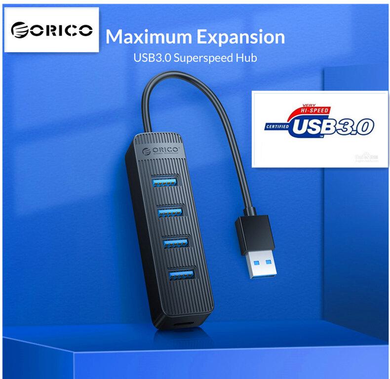 Orico Type Cอะแดปเตอร์ Usb 3.0 Hub Twu3 Type-Cขับเคลื่อน พร้อมอินเตอร์เฟสแหล่งจ่ายไฟ Usb Extender Multi 4 Port ตัวแยกสัญญาณ Usb2.0 Otg Splitter.