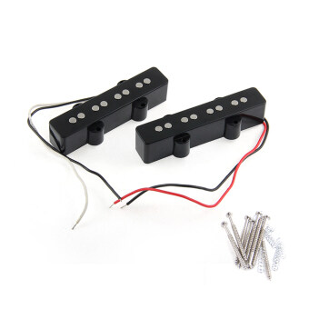 Harga 2Pcs 4 String Bridge Pickup Black for Jazz Bass Replacement