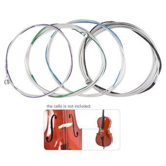 Harga Full Set Cello String Replacement for 3/4 & 4/4 Cello 4pcs C G D & A Hard Tension Cupronickel - intl