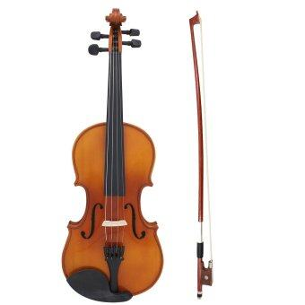 Harga Full Size 4/4 Natural Acoustic Solid Wood Spruce Flame Maple Veneer Violin Fiddle for Beginner Student Performer with Case Rosin Wiper Christmas Gift Present