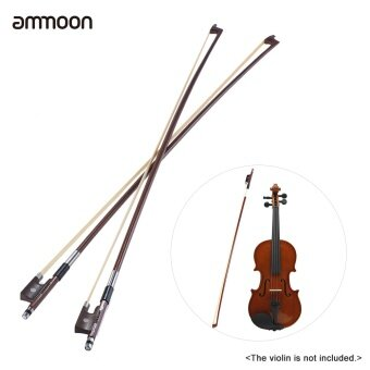 Harga ammoon Full Size 1/4 Violin Fiddle Bow Well Balanced Round Brazil Wood Stick Horsehair Exquisite, Pack of 2pcs - intl