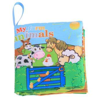 Harga Ai Home Baby Early Education Intelligence Development Cloth Book Farm Animals