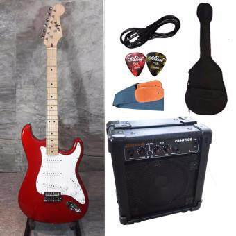 Harga At First กีตาร์ไฟฟ้า Electric Guitar stratocaster รุ่น AE-111RDM Set