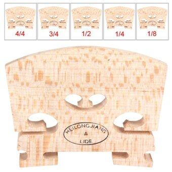 Harga Regular Type Maple Wood Violin Bridge (3/4 Size) - intl