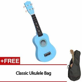 Harga QNIGLO 21 inch 15 Frets Soprano Ukulele Guitar Uke Sapele 4 Strings Hawaiian Guitar for beginners
