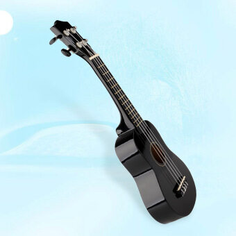 Harga 21' Soprano Basswood Hawaiian Guitar 12 Frets Ukulele Uke Instrument Wood Black