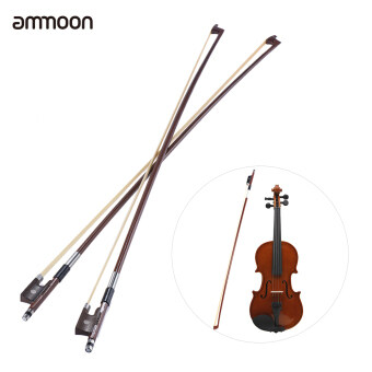 Harga ammoon Full Size 4/4 Violin Fiddle Bow Well Balanced Round Brazil Wood Stick Horsehair Exquisite, Pack of 2pcs - intl