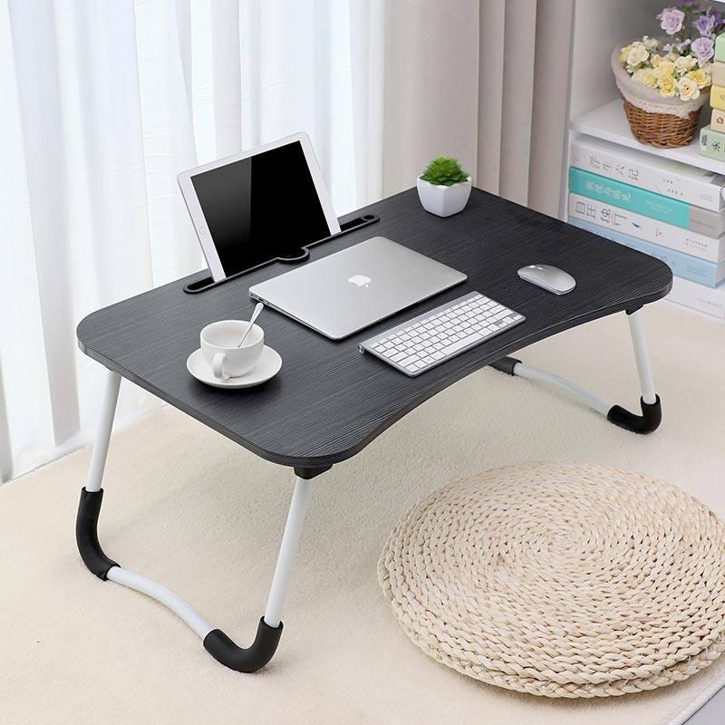 โต๊ะ โต๊ะคอม โต๊ะวางโน๊ตบุค โต๊ะคอม โต๊ะอ่านหนังสือ พับเก็บได้ โต๊ะเขียนหนังสือ วางโทรศัพท์ ipad(ไม่มีที่ว่างแก้ว/มีที่วางแก้ว)