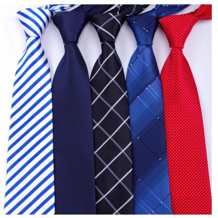เนคไท เน็คไท Ties Men Classic Business Formal Business Wedding Dress Tie Mens Gifts Stripe Grid Fashion Shirt Dress Accessories 8cm Necktie.