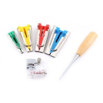 6pcs Bias Tape Maker Kit 6/12/18/25mm Binding Tool AccessoriesGuide Strip Sewing Quilting - intl