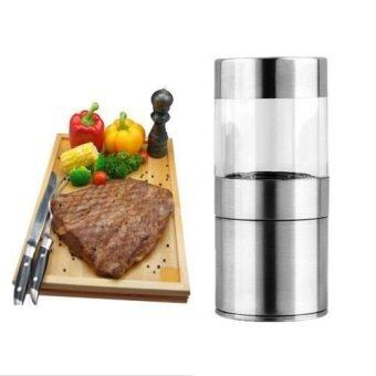 Harga Stainless Steel Automatic Salt Pepper Mill Grinder Shakers Kitchen - intl