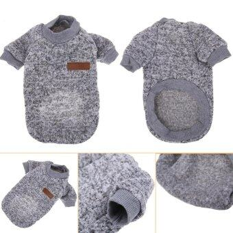 Harga New Pet Dog Cat Sweater Clothing Coat (Grey) (L) - intl