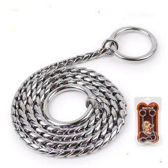 Harga Universal New Style Adjustable Training Dog Collar Snake Chain Stainless Steel - intl