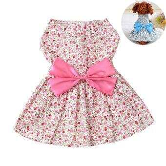 Harga Small Pet Dog Dress Tutu Skirt Coat Cat Puppy Cute Clothes Apparel Clothing Pink 26cm - intl
