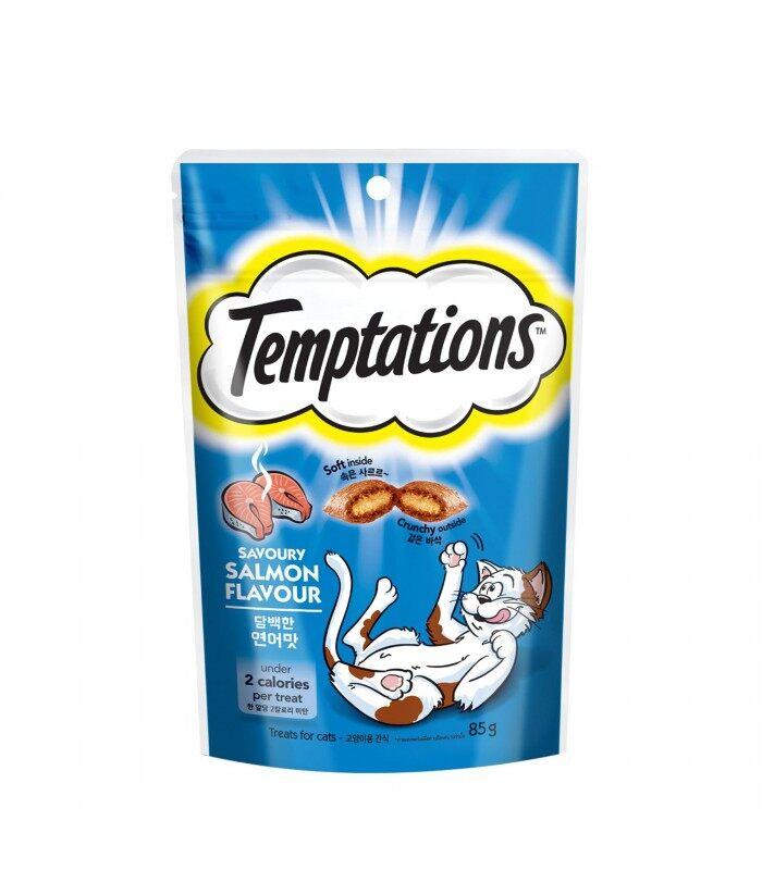 Temptations ขนมแมว รสแซลมอน 85 กรัม.