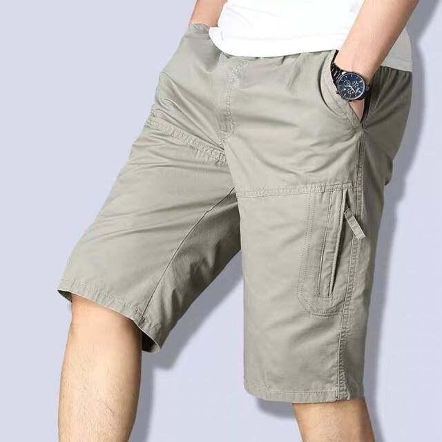 """(พร้อมส่ง) กางเกงขาสั้นชาย ผ้าฝ้าย 28-42 รวมสีขายดี Set 1 """"ผ้าดี สีไม่ตก งานห้าง ทรงสวย"""" (เทียบไซส์กางเกงเลื่อนดูรายระเอียดด้านล่่าง)"""
