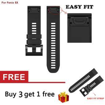 26mm Width Soft Silicone Easy Fit Band Strap for Fenix 5X / Fenix 3/3HR GPS Watch - intl