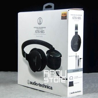 Audio-Technica ATH-SR5BK On-Ear High-Resolution Audio Headphones,Black - intl