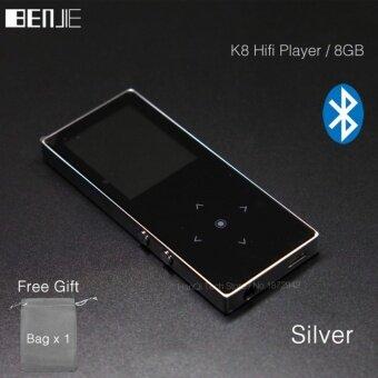 BENJIE K8 8GB Bluetooth MP3 Music Player Touch Screen Metal MP3E-book FM Radio Recorder